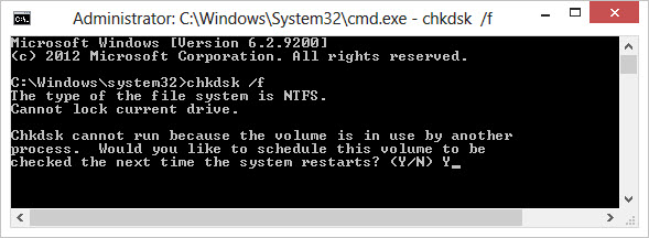 windows 7 how to run chkdsk in elevated mode